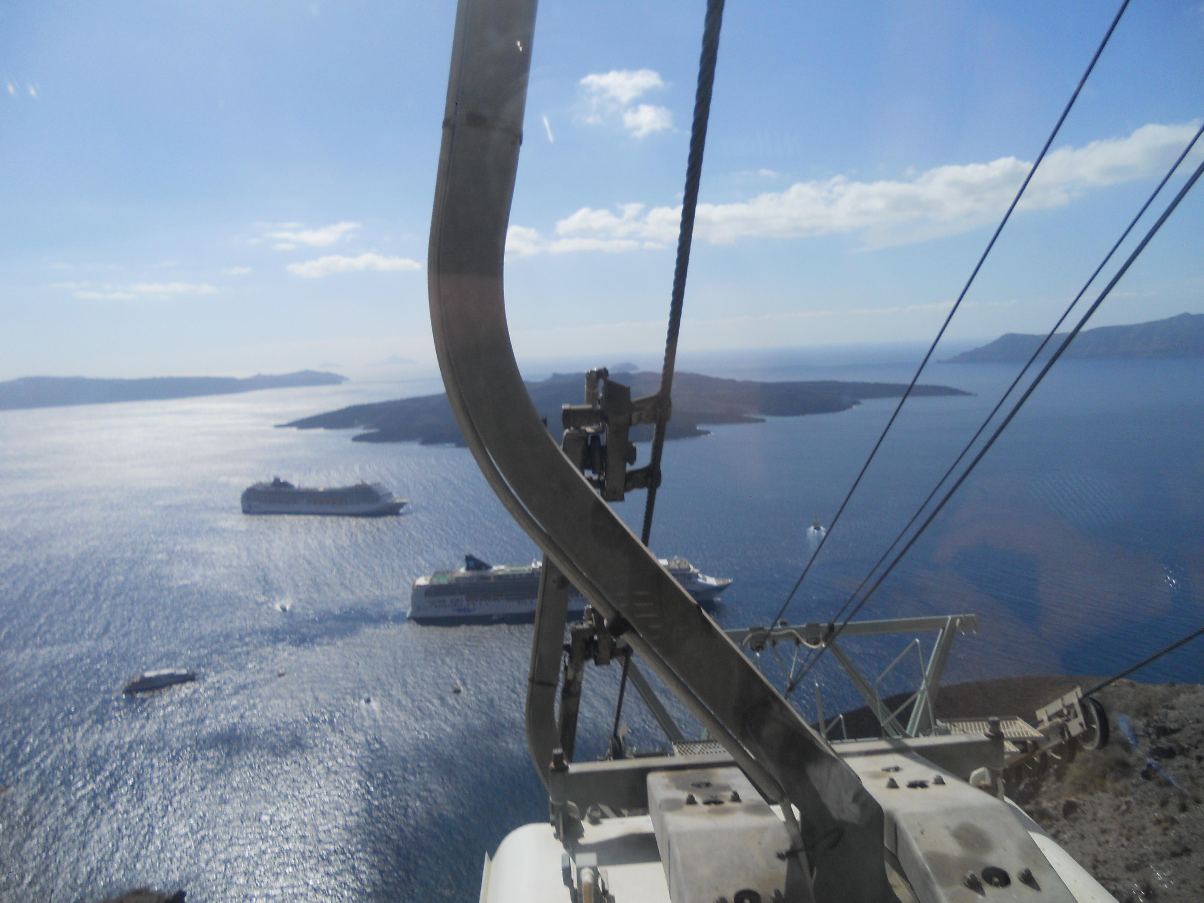 Santorini - funivia
