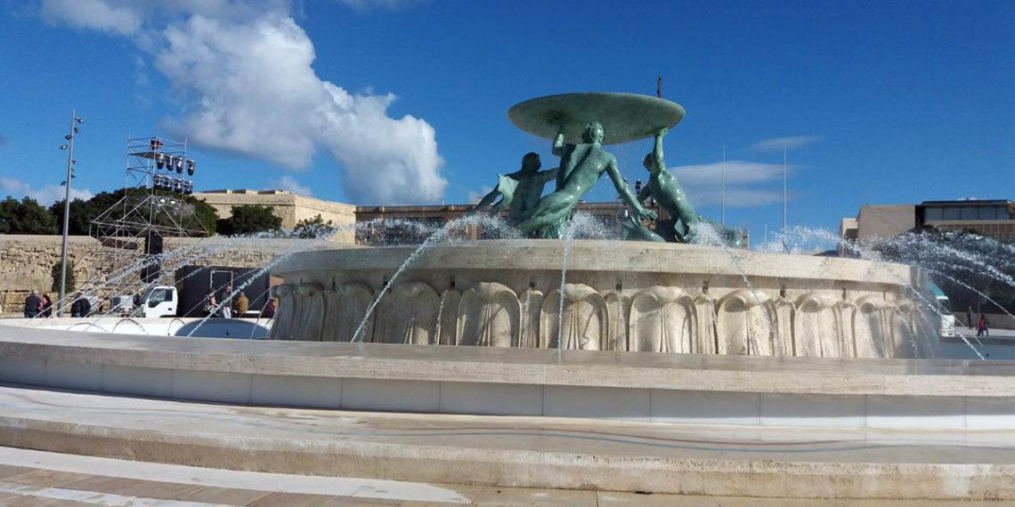 La Valletta - fontana del tritone