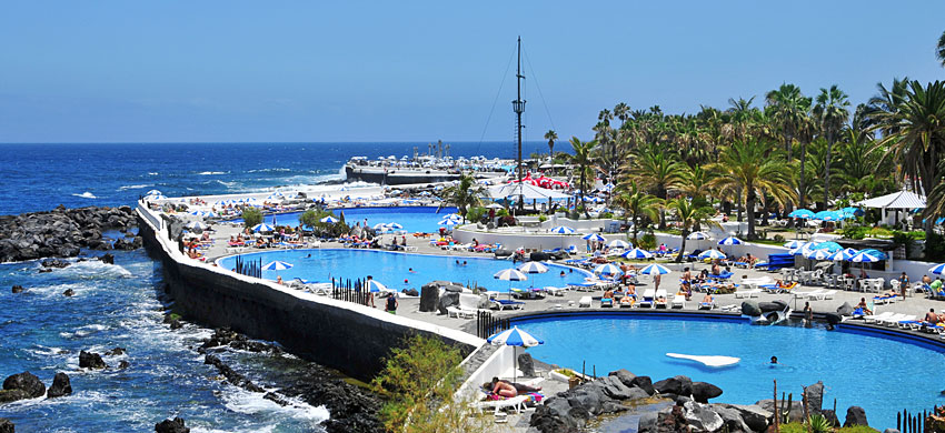 Tenerife - Puerto de la Cruz - lago Martianez