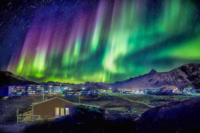 capo nord - aurora boreale