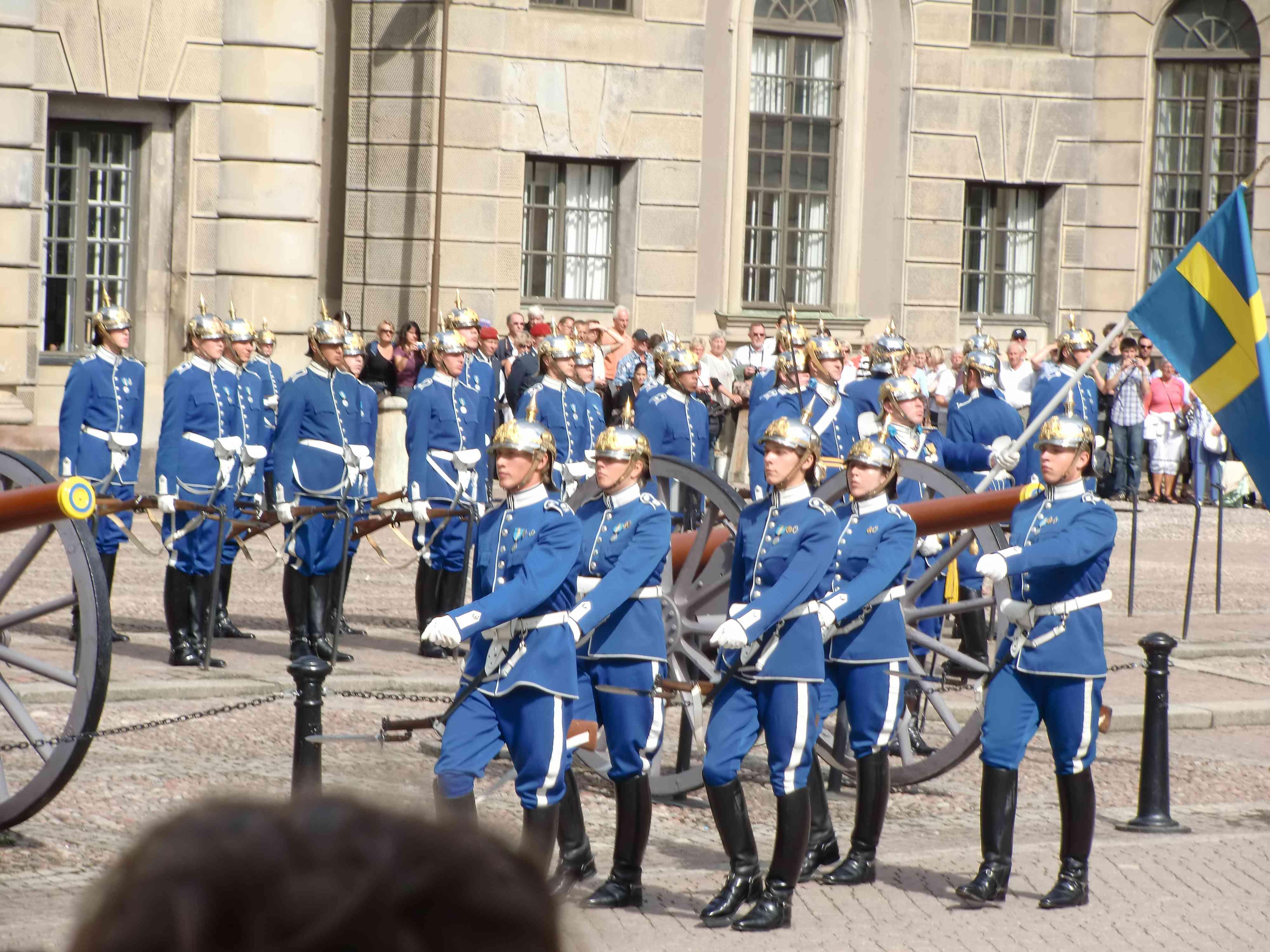 Stoccolma - palazzo reale cambio della guardia