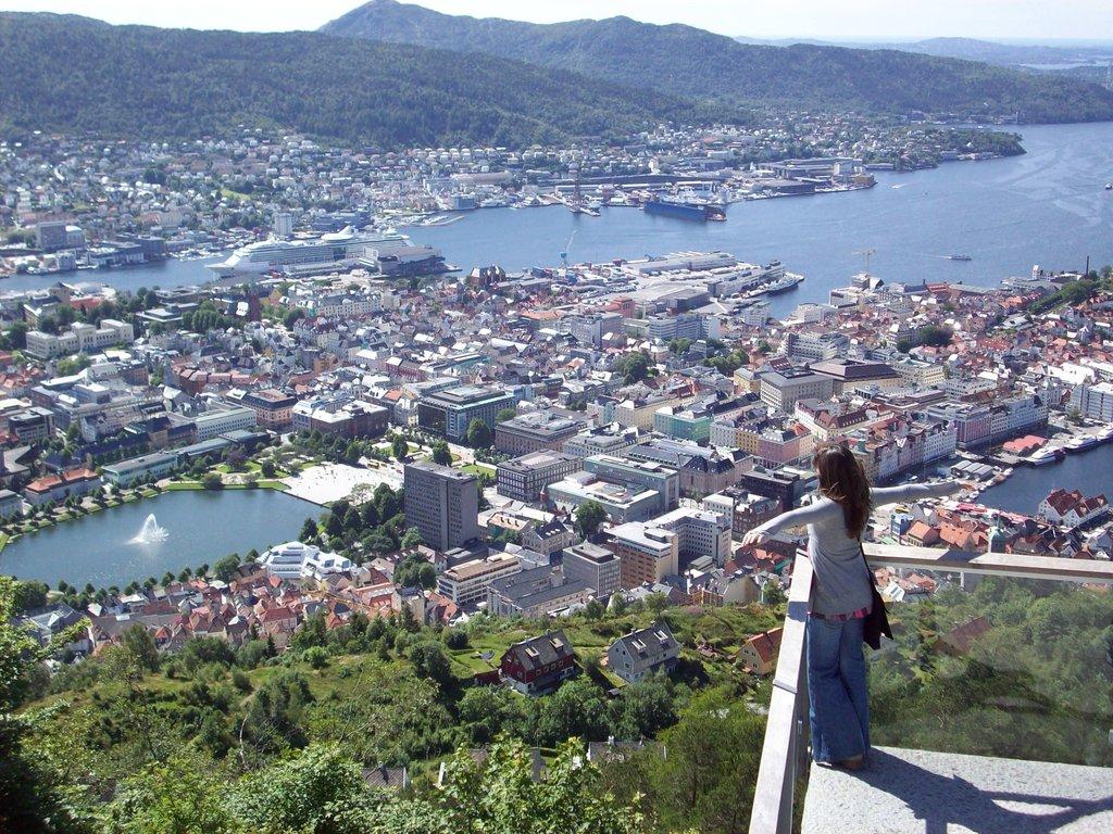 Bergen - Vista panoramica dal monte Floyen