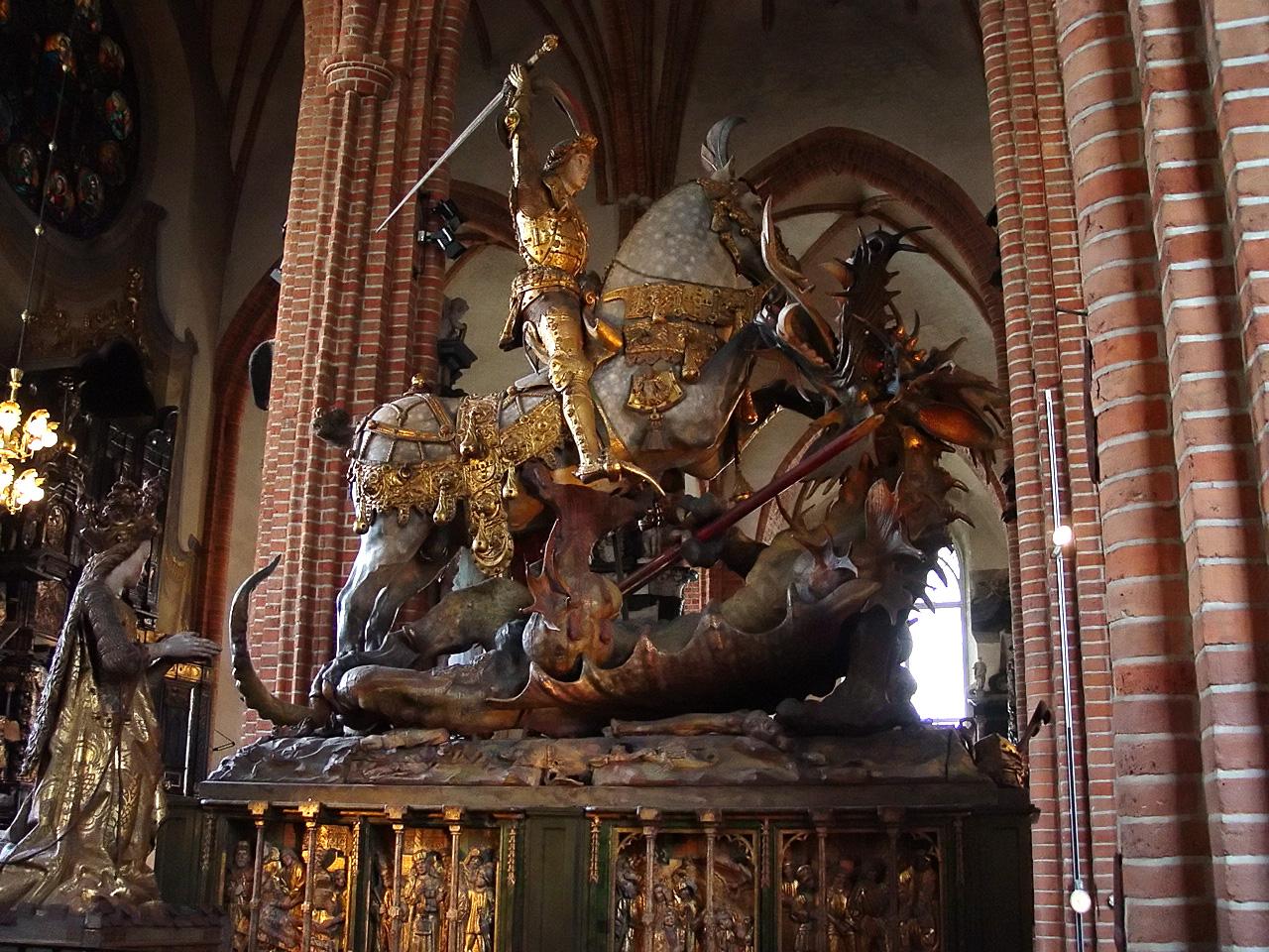 Stoccolma - LA CATTEDRALE DI SAN NICOLA - Storkyrkan San Giorgio e il drago
