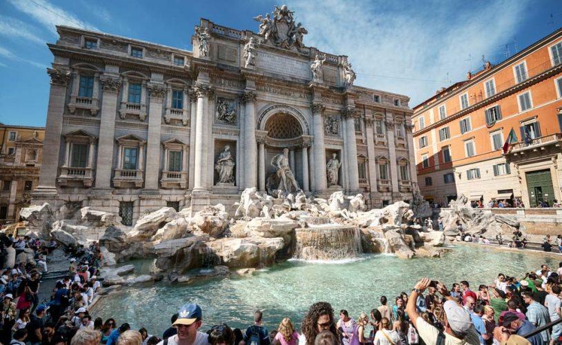 Civitavecchia escursione per Roma - fontana di Trevi