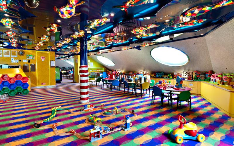 area bambini carnival cruise lines  crociere nel cuore