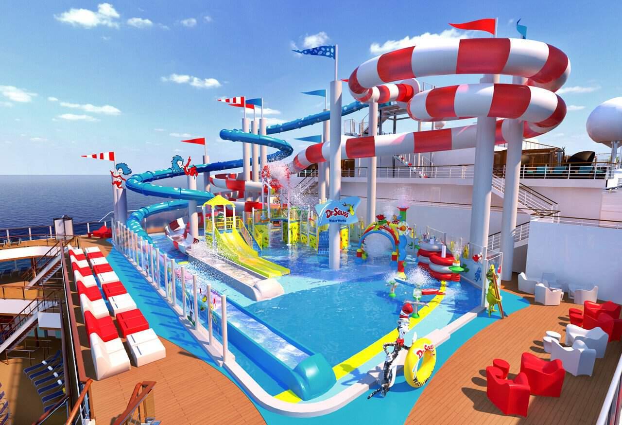 piscine bambini carnival cuise lines  crociere nel cuore