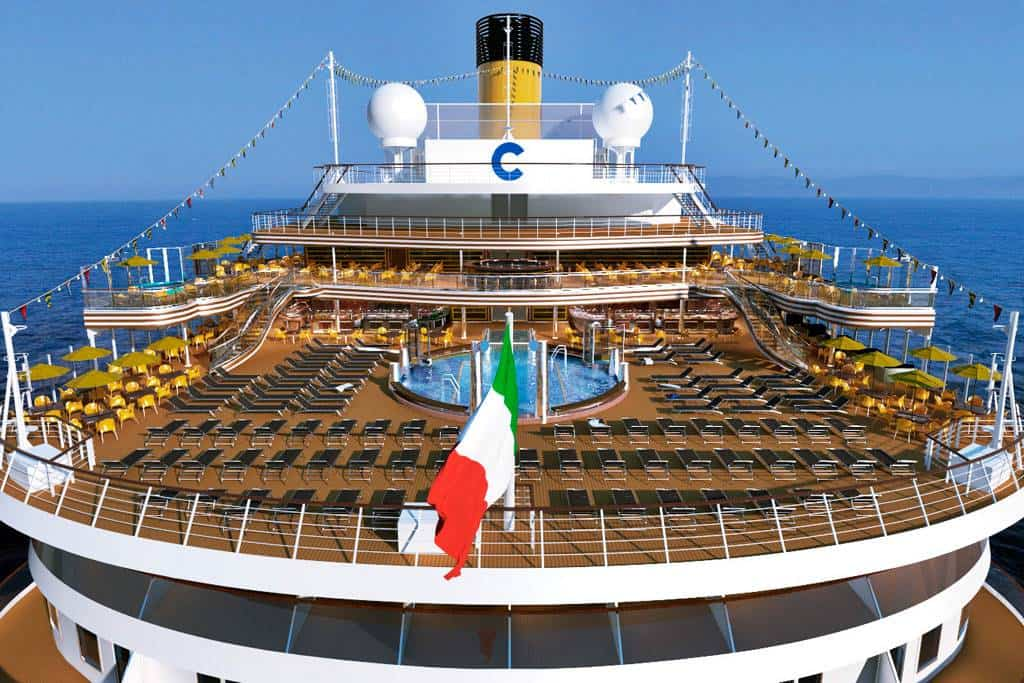 costa crociere batte bandiera italiana