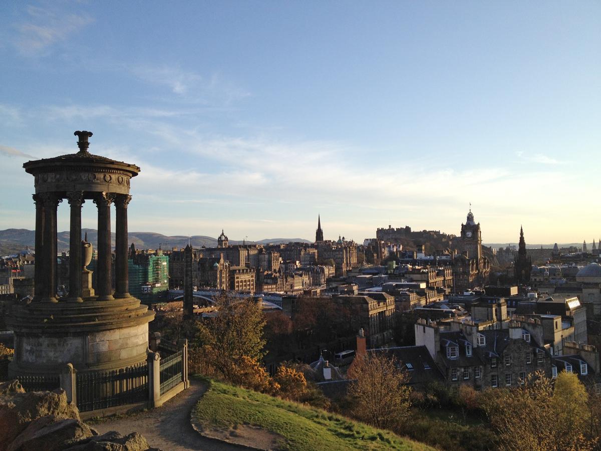 Edimburgo - panorama da Calton Hill