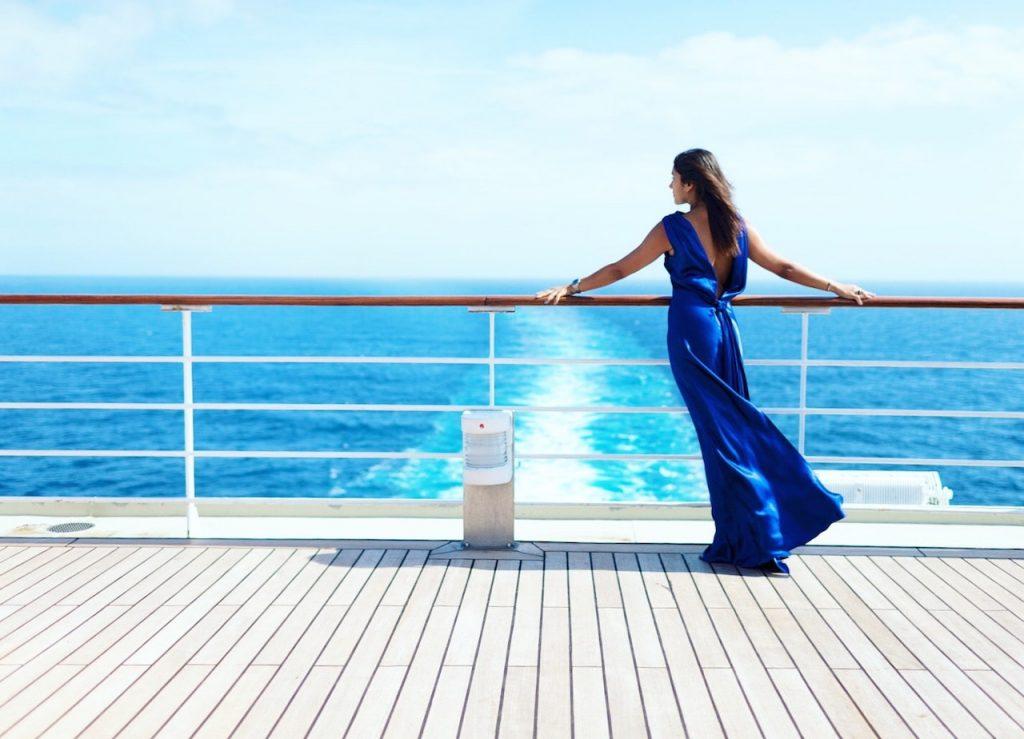 sfilata di moda sulla queen mary 2