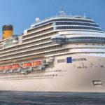 Costa Diadema attracca nel porto di Piombino