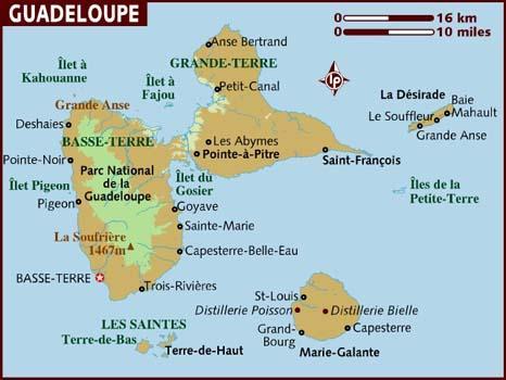 Guadalupa - mappa