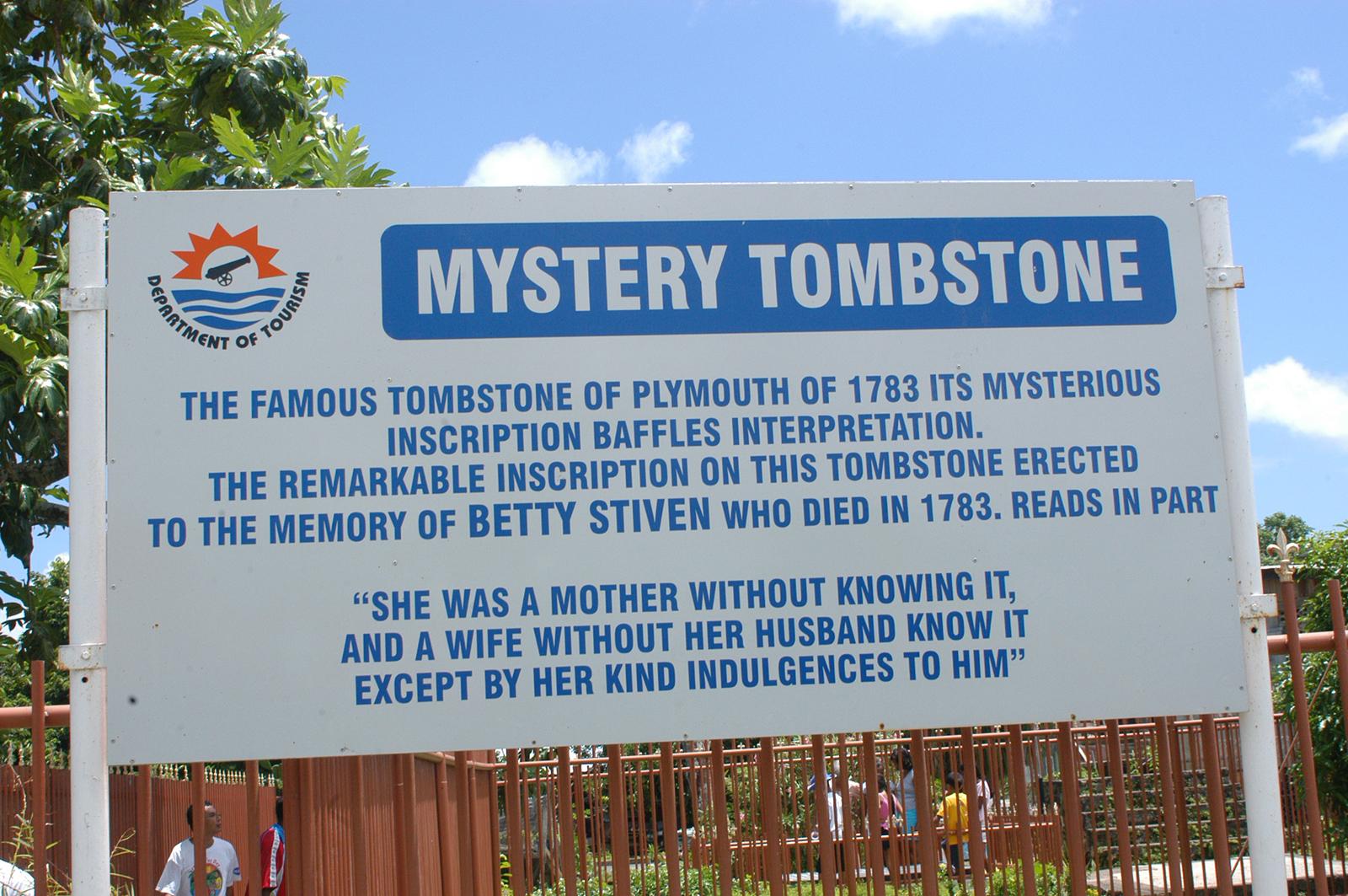 Mystery Tombstone - Tobago