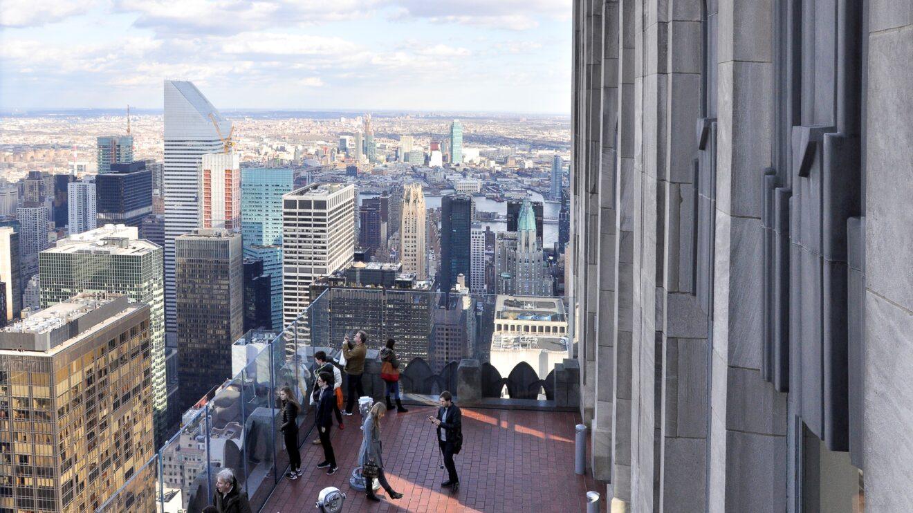 vista da Top of The Rock New York