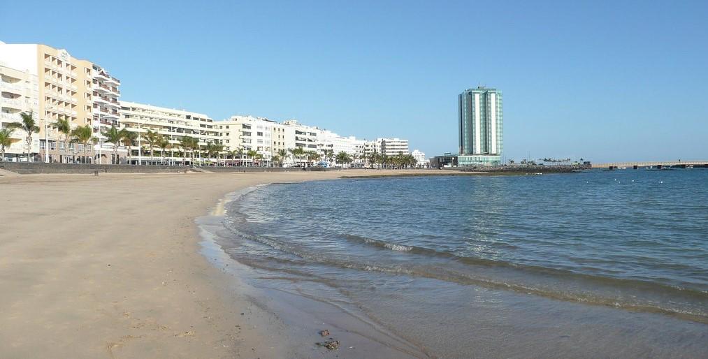 Arrecife - playa del reducto Lanzarote