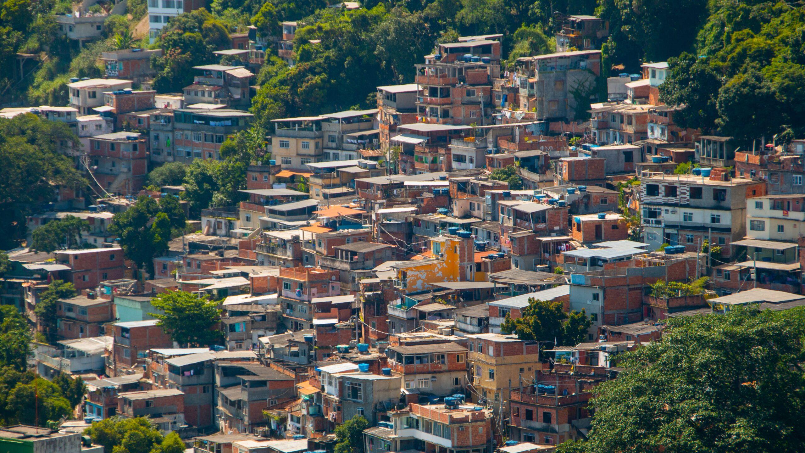Babylonian slum in Copacabana in Rio de Janeiro Brazil.